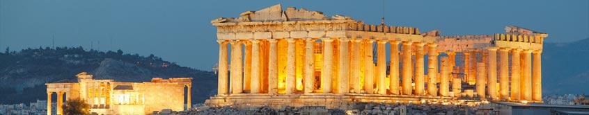 Acropolis panorama night