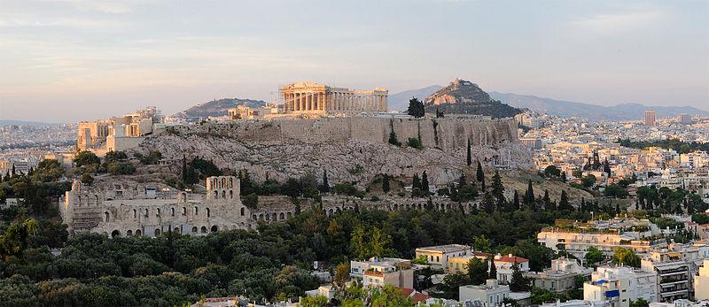 View of the Acropolis Athens