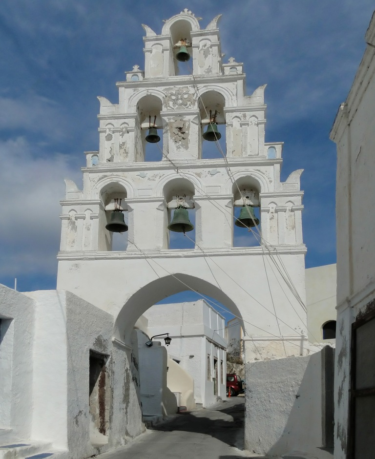 Bell tower Church, Santorini