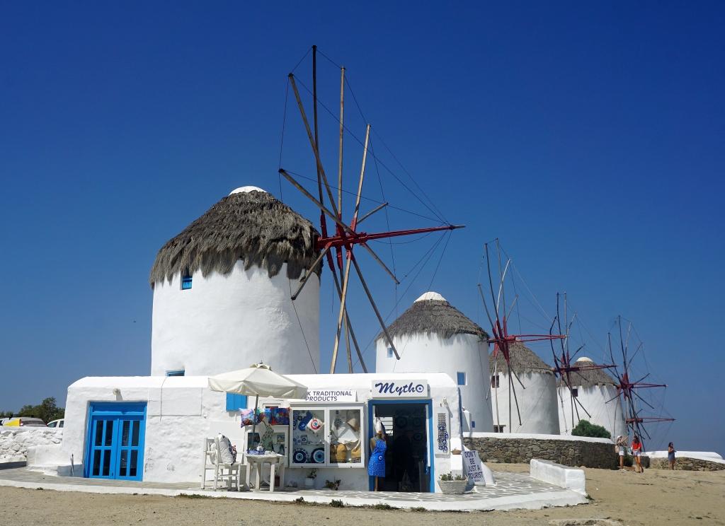 Wind mills in Mykonos