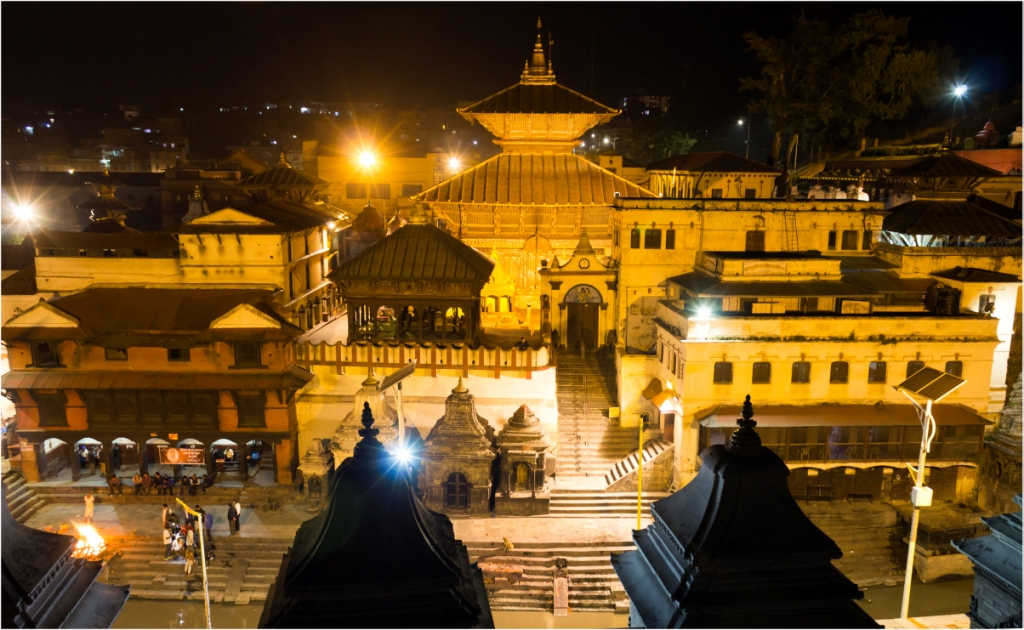 Pasupatinath Temple - Night view