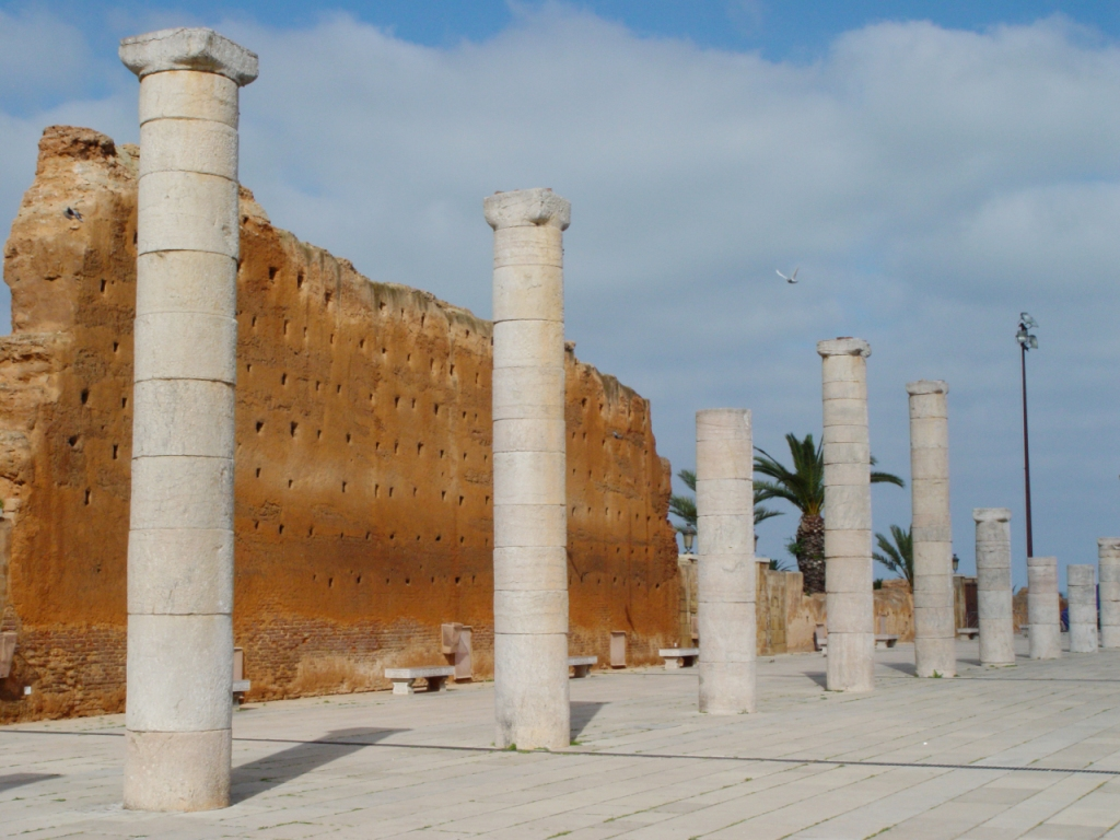 Remnants of wall at Hassan Tower, Rabat