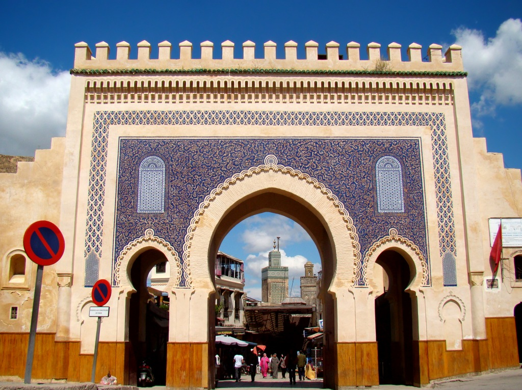 The Bab Bou Jeloud gate, leading into the old medina of Fez